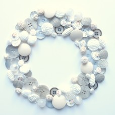 Boutons couronne blanche 1