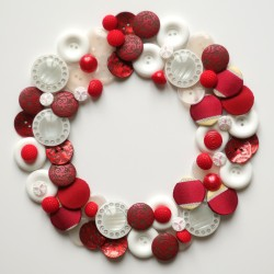 Boutons couronne rouge et blanc 1
