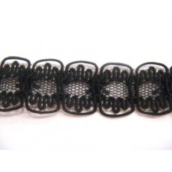 Dentelle coloris noir