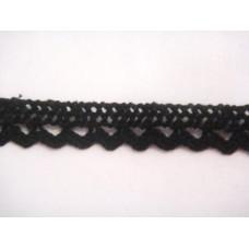 Dentelle coton noir
