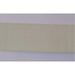 Ruban élastique blanc cassé 2.5 cm