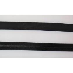Elastique noir avec gomme 1.3 cm