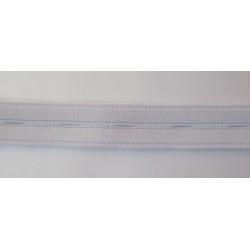 Elastique boutonnière blanc 2 cm