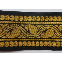 Ruban noir et or 6.5 cm