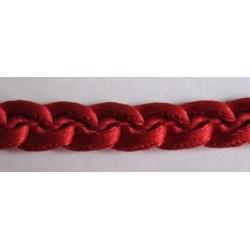 Galon passementerie chaînette rouge