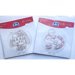 2 kits à broder enfants en broderie traditionnelle